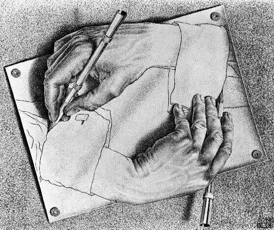 M. C. Escher, Mani che disegnano, 1948 Photo credit: maecla.it