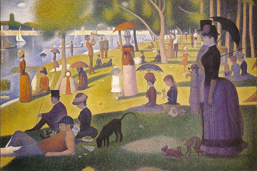 puntinismo con George Seurat