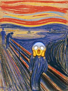 anche le emoticon si ispirano all'urlo di munch