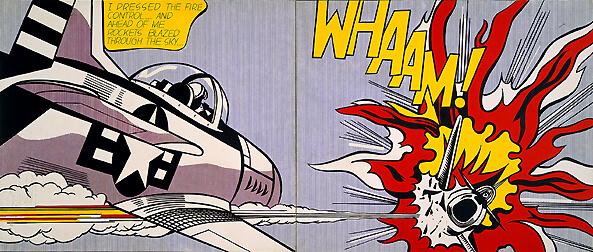 pop art Lichtenstein, tecnica artistica Lichtenstein, pop arte per bambini