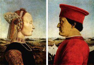 Piero della Francesca, Doppio ritratto dei duchi di Urbino, 1465/1472 ca., Uffizi, Firenze
