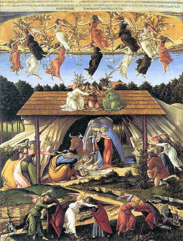 Natale nella storia dell'arte, botticelli