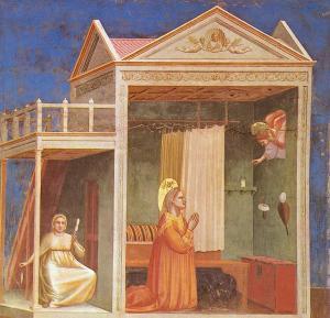 Giotto, Annunciazione a S. Anna, Cappella degli Scrovegni, Padova, 1303/1305 ca.
