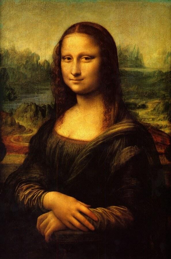 La Gioconda prospettiva aerea Leonardo da Vinci, La Gioconda