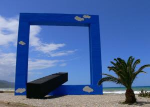 land art e natura finestra sul mare