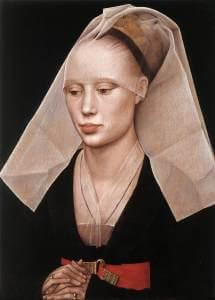 Rogier van der Weyden, Ritratto di giovane donna, 1460 circa