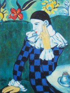 Carnevale, arte e immagine, arlecchino Picasso