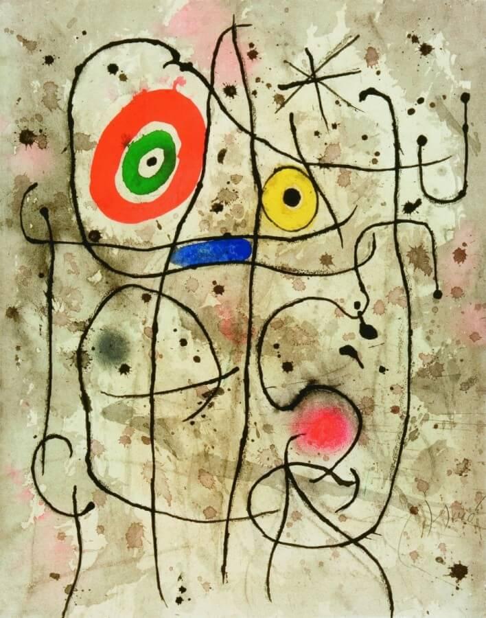 mirò pittore surrealista opere bidimensionali