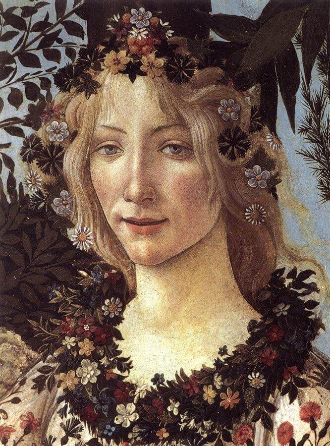 Flora, particolare de La Primavera di Botticelli