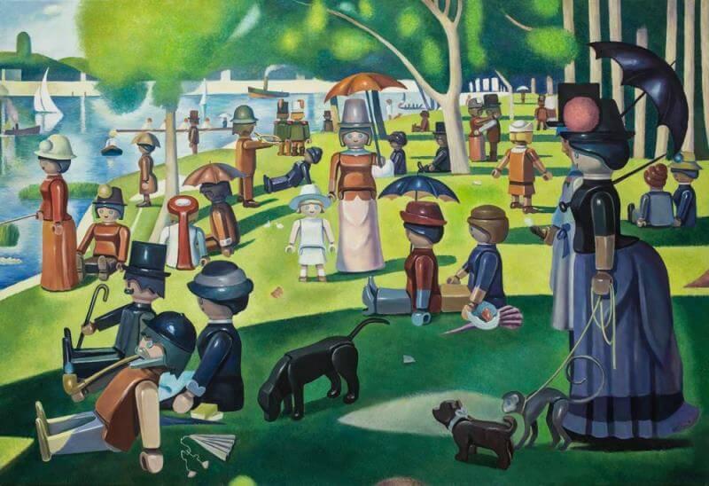 Pierre Adrien Sollier l'artista dei quadri con i Playmobil