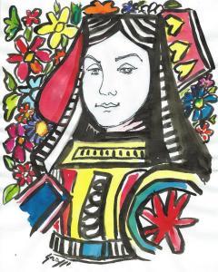 Fabio Grassi, donna di fiori