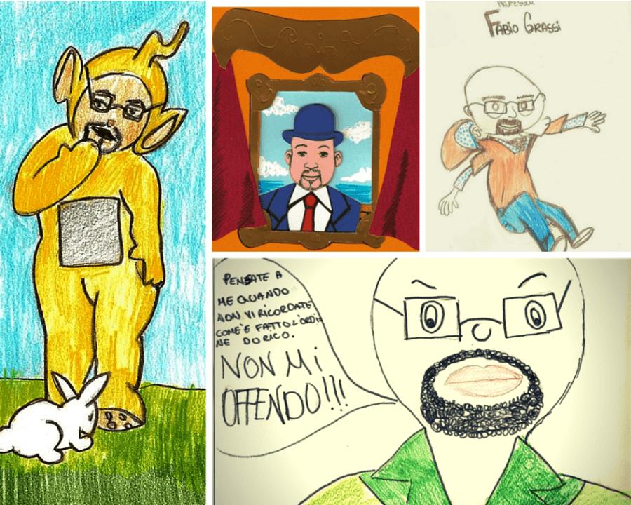 Come gli alunni disegnano il prof. Fabio Grassi