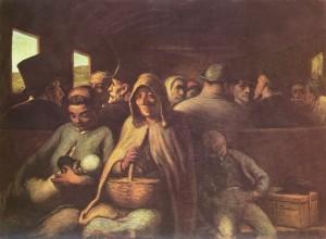 H. Daumier, Il vagone di terza classe, 1862