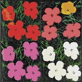 A. Wahrol, Flowers, 1964 Photo credits: arteconomy24.com