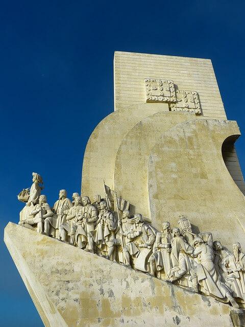 Dettaglio del Monumento alle Scoperte