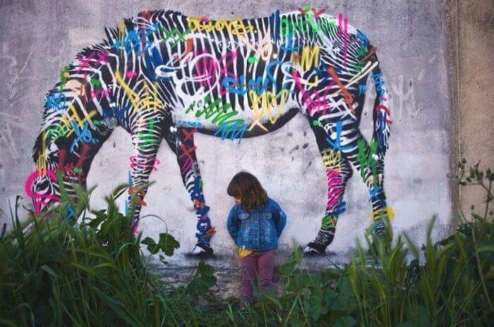 Un bellissimo esemplare di zebra a regola d'arte!