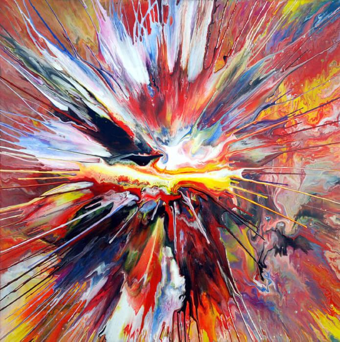 action painting per esprimere emozioni