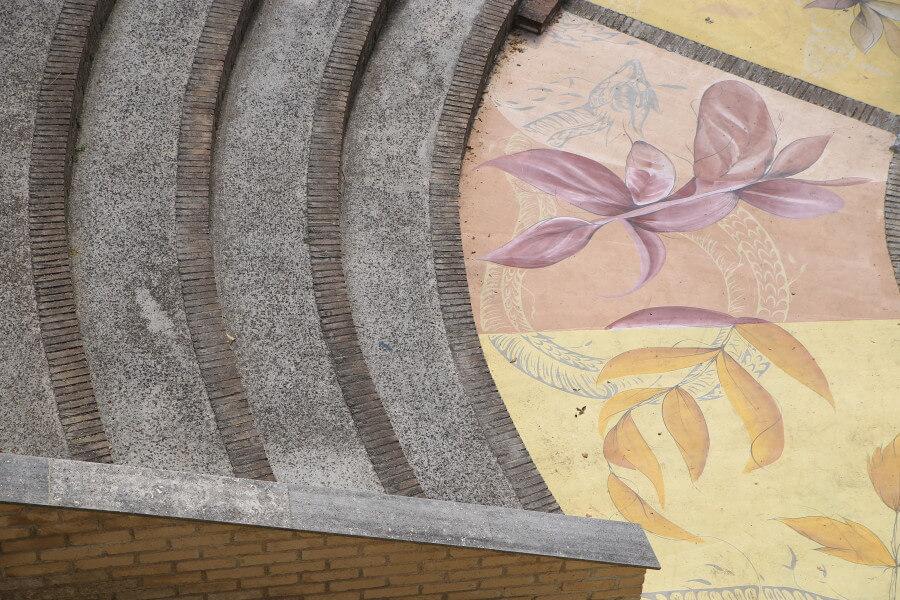arena dipinta da Fio Silva