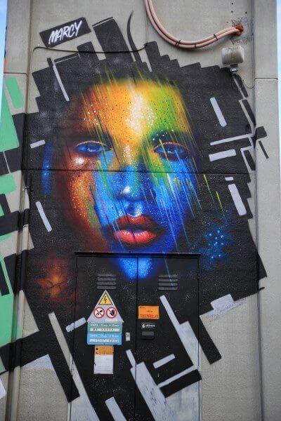 opera street art selci di Marcy