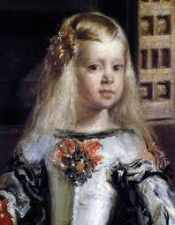 Particolare dell'infanta Margherita, erede al trono.