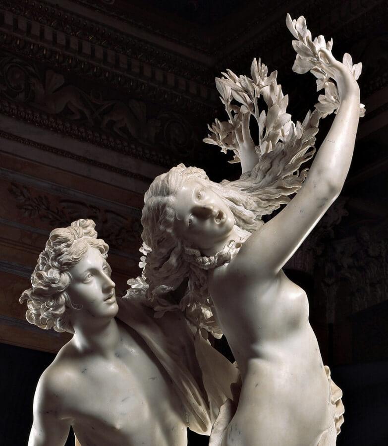 Mani di Dafne nella scultura del Bernini