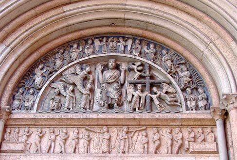 porta del redentore battistero di Parma