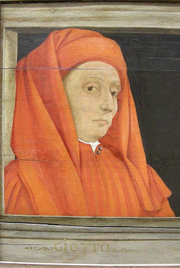 Ritratto fi Giotto conservato a Louvre