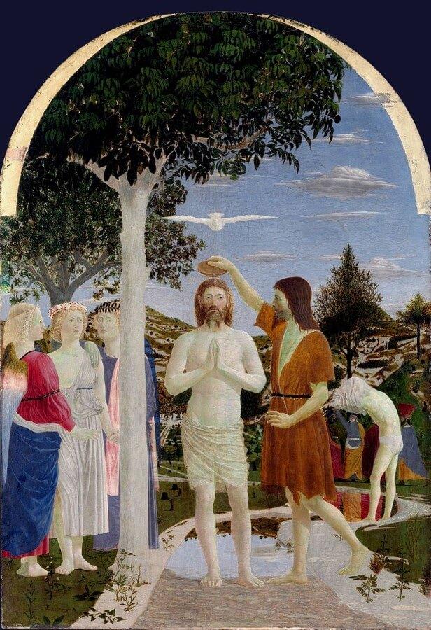 battesimo di cristo di piero della francesca