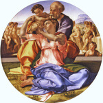 Tondo Doni di Michelangelo e la rappresentazione della sacra famiglia