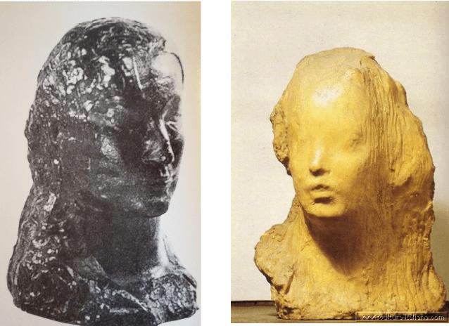 scultura di Picasso a paragone con la scultura di medardo Rosso