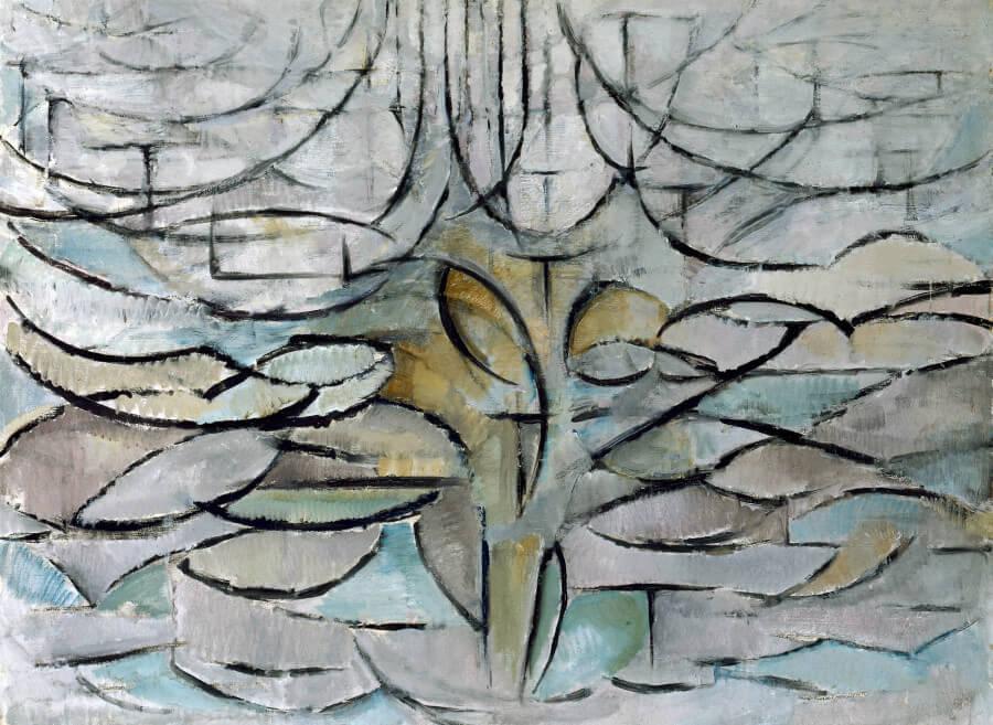 astrazione di Mondrian attraverso gli alberi