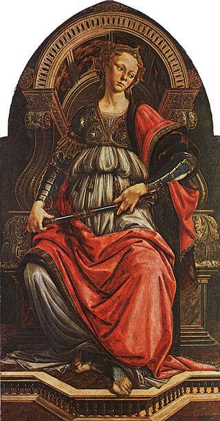 La fortezza, opera di Botticelli realizzata in giovinezza