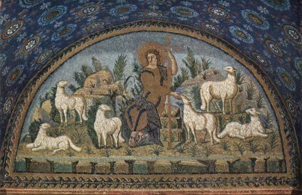Gesù Buon Pastore, Mausoleo di Galla Placidia, Ravenna, prima metà V sec.