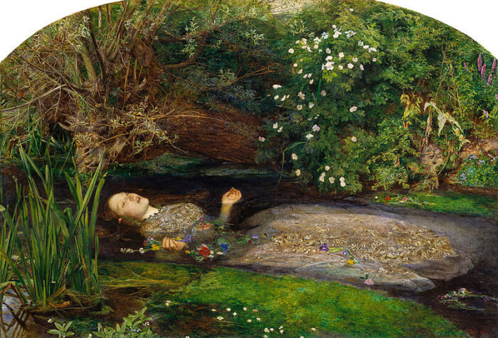 preraffaellismo inglese opere più famose ofelia Millais
