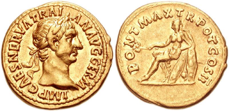 numismatica archeologica moneta di traiano