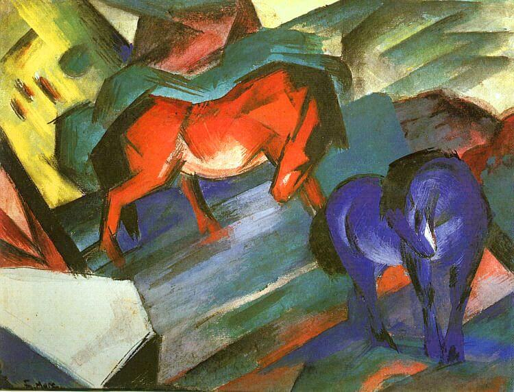 animali dipinti da artisti cavalli di franz marc