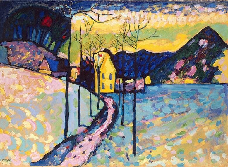 l'inverno nella storia dell'arte è anche con Kandinsky