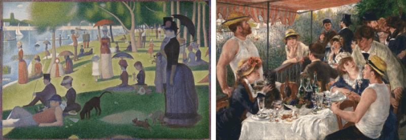 weekend cosa fare consigli da Seurat e Renoir
