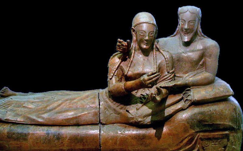 sarcofago degli sposi villa giulia roma
