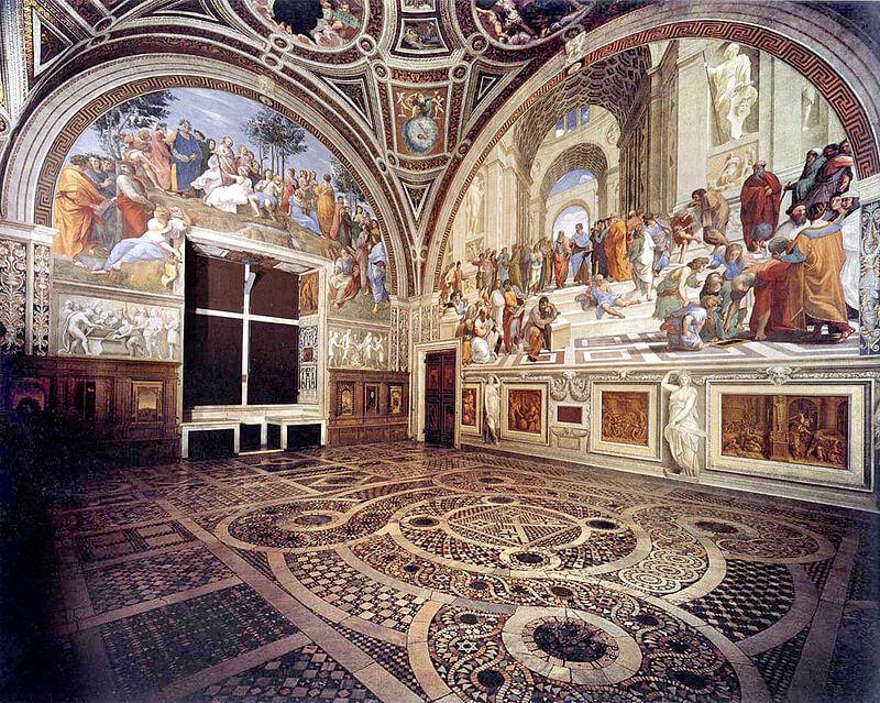 raffaello sanzio stanze vaticane stanza della segnatura