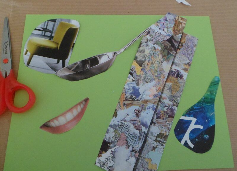 collage e papier colle per bambini
