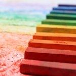 graffito tecnica con i colori a cera