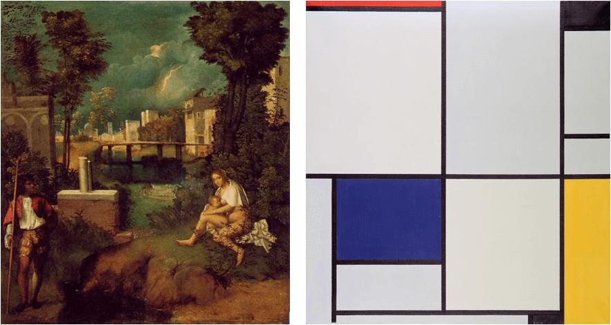 composizione dei piani in arte