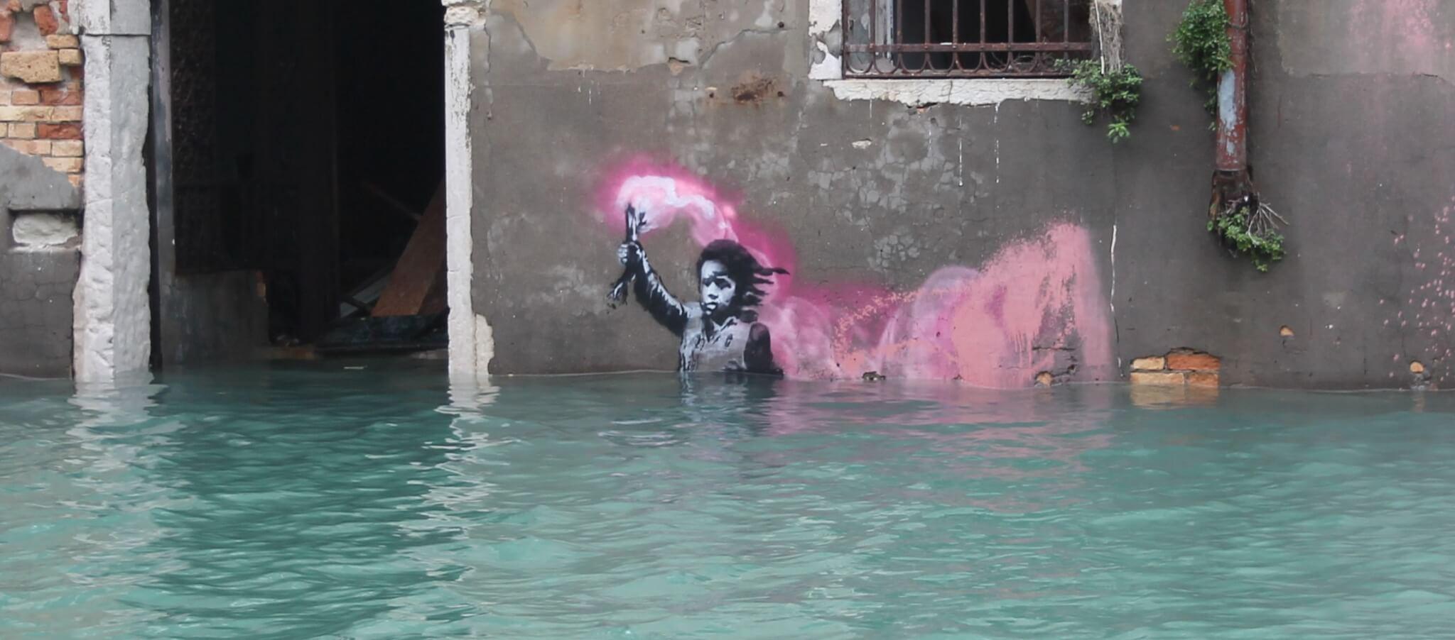 banksy bambino naufrago